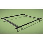 Wehsco Insta-Lock Deluxe Bed Frame w/ 4 Legs & Plastic Glides Twin/Full/Queen 1½