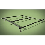 Wehsco Insta-Lock Deluxe Bed Frame w/ 6 Legs & Plastic Glides Queen/King/Cal-King 1½