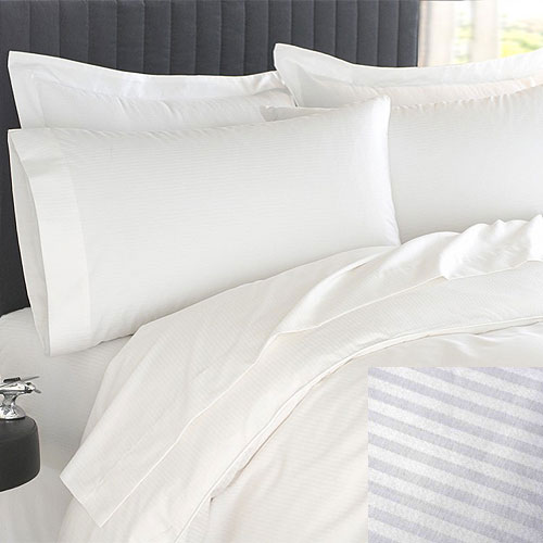 home u003e category filters u003e brand u003e martex u003e martex patrician t250 stripe duvet cover king 108x90 60 cotton 40 polyester white 10 per case price per each