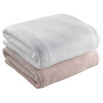 Martex Super Fleece Blanket Twin 66x90 100% Polyester Fleece Ivory or Tan 4 Per Case Price Per Each