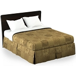 Martex Rx Madeline Bed Skirt Twin XL 39x80x15 Poly/Cotton Gold Printed Design 1 Dz Per Case Price Per Each