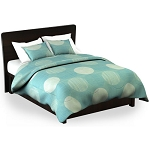 Martex Rx Circles & Stripes Pillow Sham Queen 20x30 Poly/Cotton Aqua 2 Dz Per Case Price Per Each