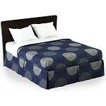 Martex Rx Circles & Stripes Bed Skirt Twin XL 39x80x15 Poly/Cotton Sapphire 1 Dz Per Case Price Per Each