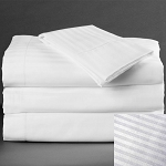 Martex Millennium T-250 Stripe Bed Skirt Twin 39x80x15 60% Cotton 40% Polyester White 12 Per Case Price Per Each