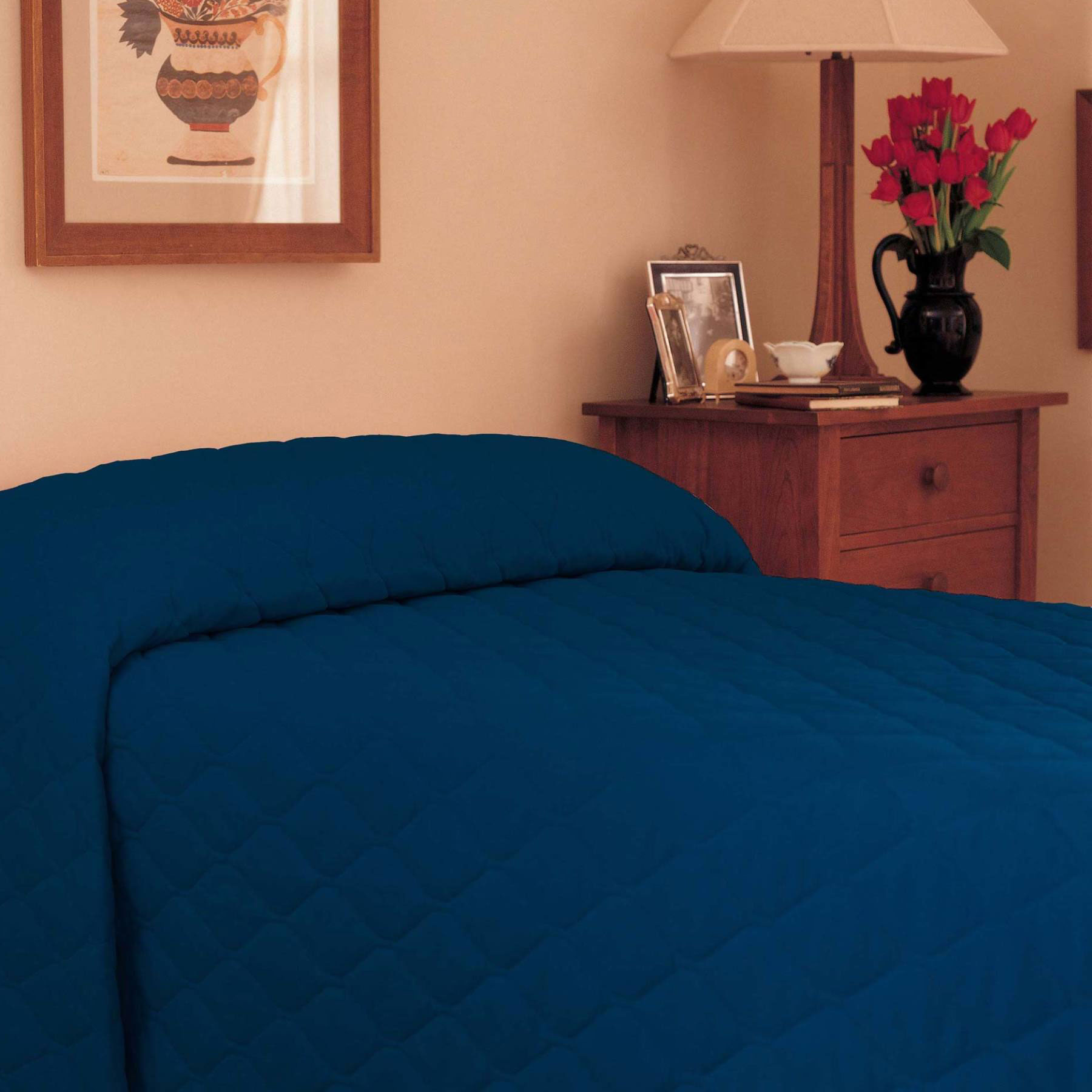 Martex Solid Color Bedspread Twin 81x110 Polyester Cotton