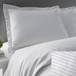 Martex Patrician T-250 Stripe Pillow Sham Standard 20x26 60% Cotton 40% Polyester White  24 Per Case Price Per Each