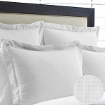 Martex Suites Staybright Swiss Dot Dobby Pillow Shams Standard 20x26 White 2 Dz Per Case Price Per Each