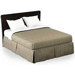 Martex Rx Bennet Bed Skirt Twin XL 39x80x15 Poly/Cotton Tan Printed Design 1 Dz Per Case Price Per Each