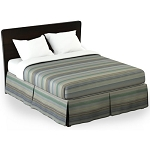 Martex Rx Finley Bed Skirt Twin XL 39x80x15 Poly/Cotton Blue Printed Design 1 Dz Per Case Price Per Each