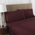 Martex Colors T-200 Pillowcase Standard 44x36 60% Cotton 40% Polyester Burgundy 4 Dz Per Case Price Per Dz