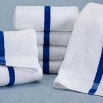 Martex Blue Stripe Pool Towels 20x40 5.5Lbs/Dz 10 Dz Per Case Price Per Dz