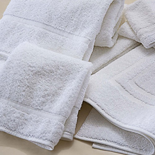 Martex Sovereign Dobby Border Bath Towels 24x50 100 Ring Spun Cotton Loops White 10 5lb Dz 5 Per Case Price
