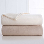 Martex Plush Fleece Blanket Twin 66x90 Ivory or Khaki 4 Per Case Price Per Each