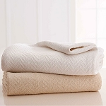 Martex Grand Patrician Thermal Blanket Twin 66x90 100% Cotton White or Natural 4 Per Case Price Per Each