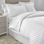 Martex Five Star T-300 Stripe Duvet Cover Queen 94x96 100% Cotton 12 Per Case Price Per Each