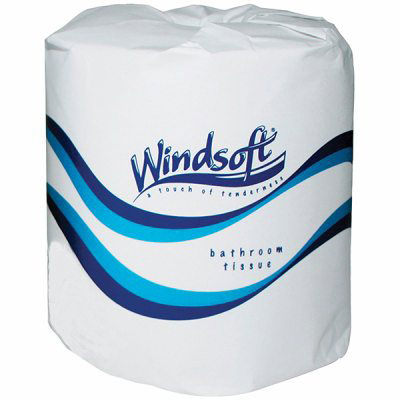 Windsoft 1 Ply Single Toilet Paper Rolls 1000 Sheets White