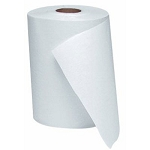 WindSoft 1 Ply Hardwound Paper Towel Rolls 350 Ft White 12 Rolls Per Case Price Per Case