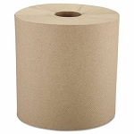 WindSoft 1 Ply Hardwound Paper Towel Rolls 800 Ft Brown 12 Rolls Per Case Price Per Case
