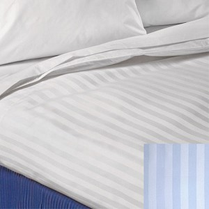 1888 Mills Beyond Plus Wide Satin Stripe Top Cover Twin 72x120 100% MJS Polyester 6.0 Oz. White 12 Per Case Price Per Each