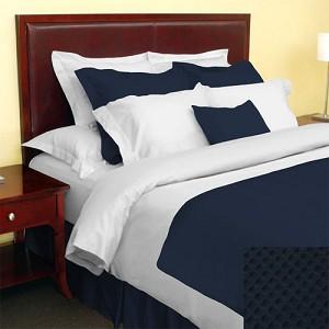 1888 Mills Adorn Navy Bed Skirt Twin Xl 39x80 55 Cotton 45