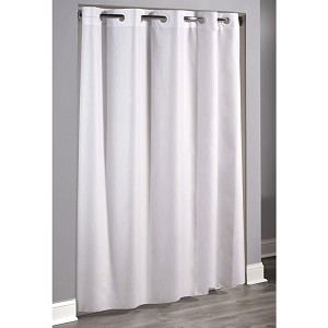 Hookless 174 Embossed Moire Polyester Shower Curtain 71x74