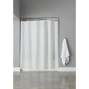 Hooked™ 6 Gauge Vinyl Shower Curtain w/ Grommets 72x72 White 12 Per Case Price Per Each
