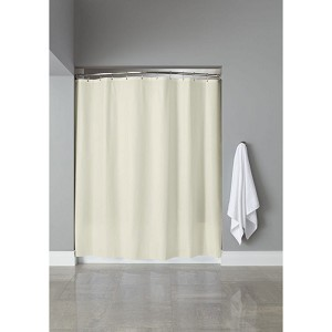 Hooked™ 6 Gauge Vinyl Shower Curtain w/ Grommets 72x72 Beige 12 Per Case Price Per Each