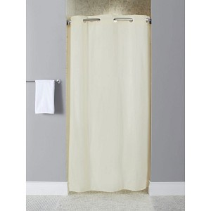 Hookless 10 Gauge Vinyl Shower Curtain Stall Size 42x74 Beige 12 Per Case Price Per Each