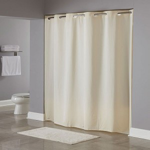 Hookless® 5 Gauge One Planet™ PEVA Shower Curtains 71x74 Beige 12 Per Case Price Per Each