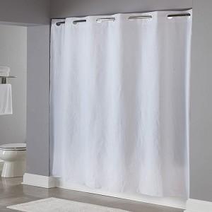 HooklessR 8 Gauge Pin Dot Vinyl Shower Curtain 71x77 White 12 Per Case Price Each