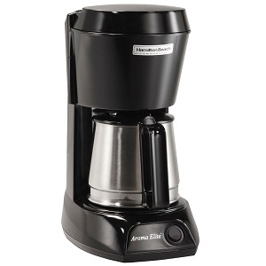 Hamilton Beach Commercial HDC500CS 4 Cup Coffee Maker w/ Swing Out Lift Off Brew Basket Black w/ Stainless Steel Carafe 6 Per Case Price Per Each