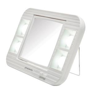 Jerdon J1015 Lighted Tabletop Makeup Mirror 1x 5x