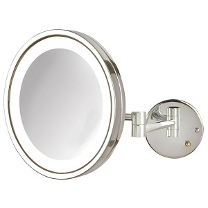Jerdon Hl1016cl 9 5 Quot Led Lighted Wall Mount Mirror 5x