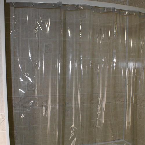 Kartri 7 Gauge See Thru Vinyl Shower Curtain W Metal