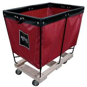 Royal Basket 3 Bushel Vinyl Elevated Basket Trucks W Wood