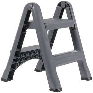 Rubbermaid Commercial 4209 Cyl Folding Two Step Step Stool