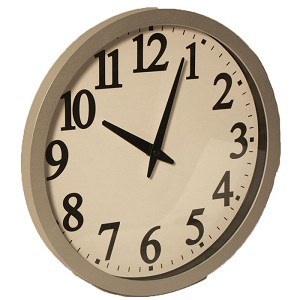 "Sonnet T-4674 11.5"" Atomic Analog Wall Clock Beige 6 Per Case Price Per Each"