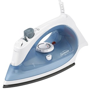 Sunbeam® IR4002-001 GreenSense™ Mid Size Steam Iron White/Blue 4 Per Case Price Per Each