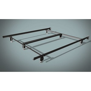 wehsco craftlock premium bed frame w 6 legs steel stem glides queen 1 side rails 71 long. Black Bedroom Furniture Sets. Home Design Ideas
