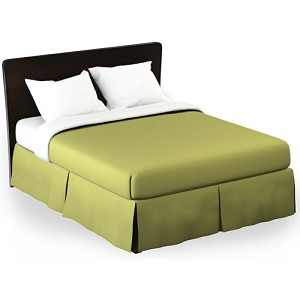 Martex Rx Solid Lime Green Bed Skirt Full XL 54x80x15 Poly/Cotton 1 Dz Per Case Price Per Each
