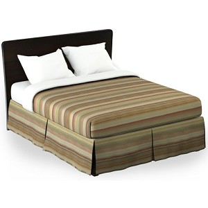 Martex Rx Finley Bed Skirt Twin XL 39x80x15 Poly/Cotton Terra Cotta Printed Design 1 Dz Per Case Price Per Each