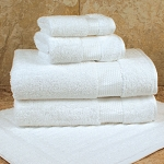 1888 Mills Lotus Bath Mat 22x34 100% Ring Spun Egyptian Combed Cotton White 10Lb/Dz 4 Dz Per Case Price Per Dz
