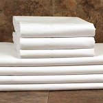 1888 Mills Oasis T-300 Fitted Sheets Full XL 54x80 100% Ring Spun Combed Cotton White 2 Dz Per Case Price Per Dz