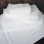 1888 Mills Textura Bath Towels XL 30x56 100% Ring Spun 2 Ply Cotton White 18Lb/Dz 2 Dz Per Case Price Per Dz