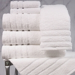 1888 Mills Naked Bath Towels 30x56 50/50 Combed Cotton Modal Loops White 18Lb/Dz 2 Dz Per Case Price Per Dz