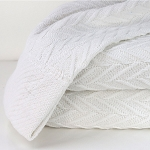 1888 Mills Magnificence Thermal Blanket Full XL 87x93 100% Cotton White 2 Per Case Price Per Each