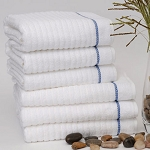 1888 Mills Waves Blue Stripe Pool Towels 24x50 100% Cotton 10.5Lb/Dz 5 Dz Per Case Price Per Dz