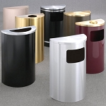 Half Round Profile Waste Receptacle Collection