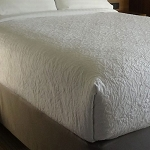 AHS Simplicity Collection Ariel Top Sheets King 110x96 100% Polyester White 12 Per Case Price Per Each