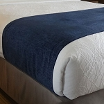 Navy Bed Scarves